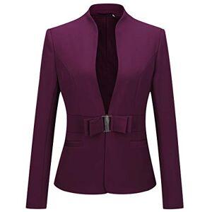 YYNUDA Women's Slim Fit Blazer Long Sleeve Casual Stylish Fancy Blazer Jacket New Look Ladies Blazer Jacket, Wine Red, XS