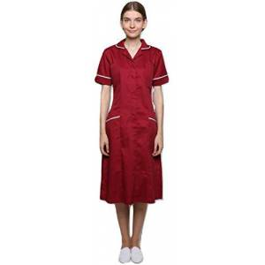 Women's Kingfisher Healthcare Step in Dress Maroon-White 10 UK