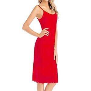 Pajamas Female Sleeping Skirt Sling Dress Pajama Women Home Service Dress Red