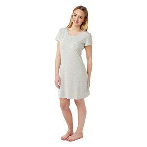 Indigo Sky Ladies Cap Sleeved Round Neck Nightdress Grey Striped Sizes 10-20 (14)