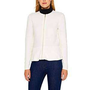 ESPRIT Collection Women's 999eo1i802 Cardigan, White (Off White 110), X-Large
