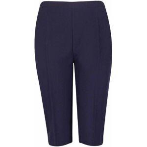 Purple Hanger New Ladies Plus Size Three Quarter Cropped Trousers Elasticated Waist Womens Plain Shorts Dark Navy Blue Size 18