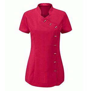 Mega_JumbleSale Women Tunic Hairdressing, Spa, Salon Top, Beauty Therapist Workwear Uniform Nurse Tunic Healthcare, Beautician Shirt (Beauty Tunic HOT Pink, UK 18)