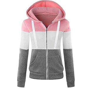 Newbestyle Women's Hooded Sweatshirt Jacket Pullover Tops - Pink - XX-Large