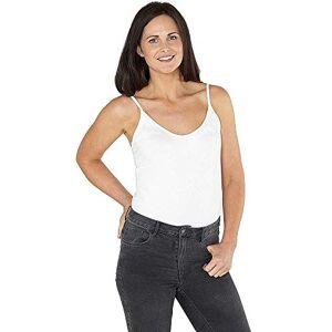 Just Essentials Womens Bodysuit Stretch Strappy Cami Vest Top Sleeveless Leotard - White - Size 22