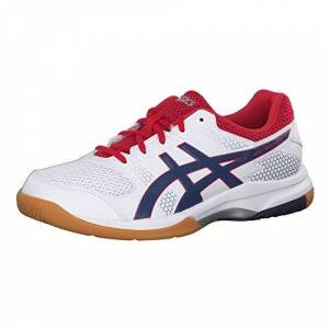 Asics Gel Rocket 8, Mens Multisport Indoor Shoes, White/deep Ocean, 10.5 Uk (46 Eu)