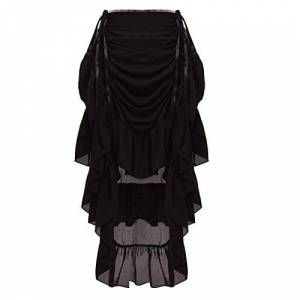 GRACEART Women's Victorian Steampunk Skirt (X-Large, Black)