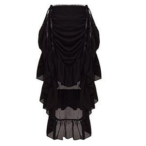 GRACEART Women's Victorian Steampunk Skirt (XX-Large, Black)