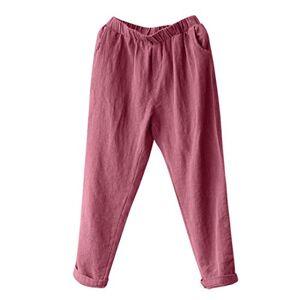 Plus Size Women Linen Harem Pants Baggy Loose Trousers Casual Lady