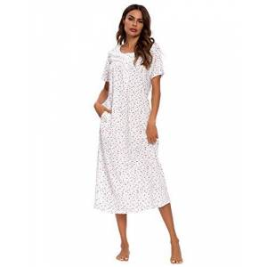 MINTLIMIT Women's Nightdress Nightgown Ladies Pyjama Soft Loose Fit Short Sleeve Nightshirts Nightie Sleepwear Loungewear Summer Dress
