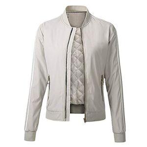 N\P Women's Jacket Loose Jacket Autumn Winter Cotton Warm Casual Women's Jacket White