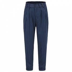 JERFER Women Wide Leg Striped Trousers Ladies Summer Loose Pants Casual Trousers Autumn Pants for Women Navy
