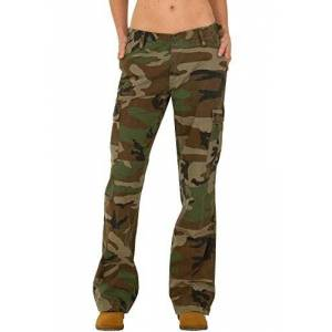 Mil-Tec Wide Leg Camouflage Cotton Cargo Pants Combat Trousers - Green & Brown (8)