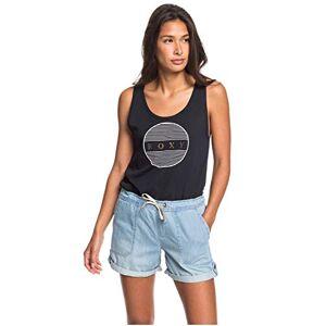 Roxy Milady Beach - Elasticated Denim Shorts for Women Elasticated Denim Shorts - Light Blue, X-Large
