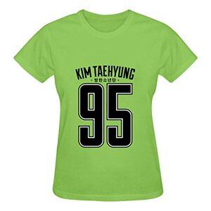 Shang Yi Women's Short Sleeve Shirts, B-TS Casual Tee T-Shirt for Teen Girls Green M