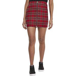 Urban Classics Women's Ladies Short Checker Skirt Dress, Multicolour (Red/Blk 00200), Large