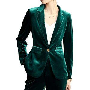 SEBOWEL Women Velvet Blazer Casual Formal Work Office Tailored Jacket Coat