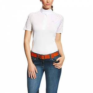Ariat Europe Ltd ARIAT Womens Aptos Vent Tek Show Shirt - White: Medium