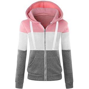 Momoxi Women's Hooded Sweatshirt Zip Sweatshirt Jacket Fleece Lining Tops Comfortable and Warm Hooded Sweatshirt Women Girls Sports Jacket Plain Casual Zipped Long Sleeve - Turquoise - XXX-Small