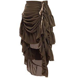 GRACEART Women's Victorian Steampunk Skirt Amy Green X-Large