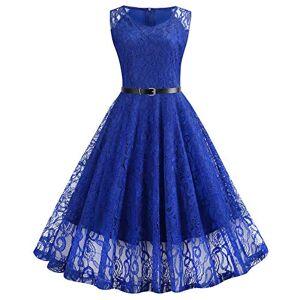 Summer Women Vintage Slim Hollow Out Solid Dresses Female Elegant V-Neck A-Line Lace Party Dress Black Red Blue