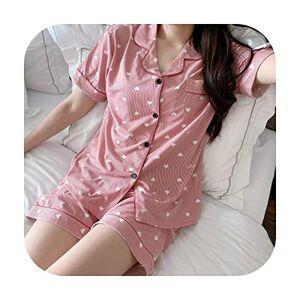 Cctor Summer Pyjamas Women Short-Sleeved Cardigan Shirt + Shorts Set Ladies Pajamas Suit Casual Sleepwear Cartoon Cute Home clothes-cartoon8-XXL