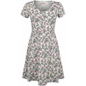 GUARDIANS OF THE GALAXY Groot - Floral Women Medium-Length Dress Multicolour S, 100% Cotton,