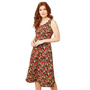 Joe Browns Women's 2 in 1 Reversible Patterned Summer Dress Casual, Multicoloured, 10