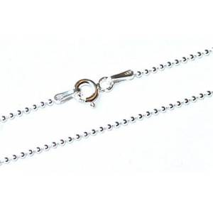Markylis - Genuine 925 Sterling Silver Ball Bead Chain Necklace - 1mm - CP120-20inch