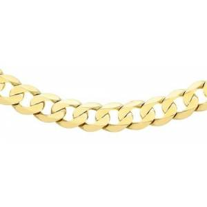 Carissima Gold Women's 9 ct Yellow Gold 5.5 mm Diamond Cut Curb Chain Necklace of Length 61 cm/24 Inch