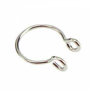LIXIAQ1 Clip On Nose Rings Non Piercing Fake Nose Ring Stud Hoop Fashion Body Piercing Personality jewelry,Steel color