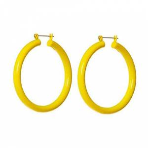 Wanfor Ear Ring, Women Young Girls Ear Jewelry New Big Circle Candy Color Acrylic Earrings