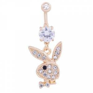 Allring AlllRing Belly Piercing Cute Rabbit Navel Bell Button Rings 316L Surgical Steel Piercing Barbell Belly Button Ring Navel Piercing Body Jewellery Black