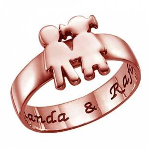 NA Personalized Name Ring 925 Silver Custom Ring Kids Ring Fashion Ring Mom's Best Gift(Rose-Gold L 1/2)