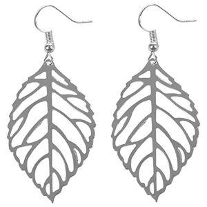 Nrpfell Women'S Earrings Hot Fashion Jewelry Hollow Metal Leaves Dangling Long Statement Drop EarringsSilver