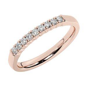 Fine Diamonds R Us 0.20ct Claw Set Round Brilliant Cut Diamond Half Eternity Ring in 18K Rose Gold (L)