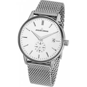 Jacques Lemans Unisex Adult Analogue Quartz Watch with Stainless Steel Strap N-215F