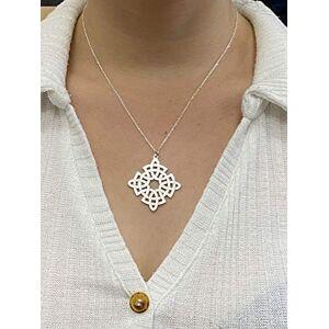 John Weldon Jewellers Rose Celtic Cross Necklace Pendant in Sterling Silver Handcrafted in Ireland