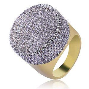 Jalash 0.50 Ct Round White Sim Diamond Men's Skull Ring 14k Yellow Gold Finish Silver (L)