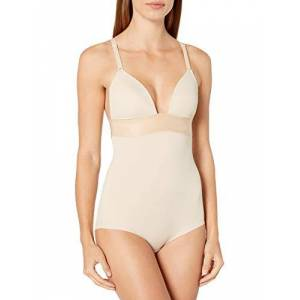 Maidenform Women's Endlessly Smooth-Plunge BodyBriefer Bodysuit, Beige (Latte Lift), 36B