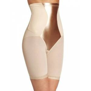 Maidenform Women's Easy Up - Bike Pant Thigh Slimmer, Beige (Latte Lift), XXL