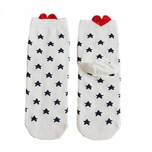 Women Men Girls Socks Casual Work Heart-shaped Cotton Love Printed Comfortable Ankle Socks for Gifts Funny Lover Socks (M)