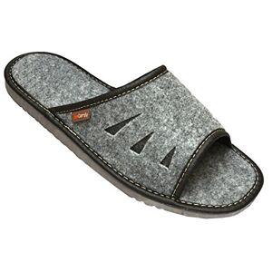 6a3fac2ce42 Men S Felt Slippers Open Toe.