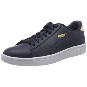 Puma Unisex Adult'S Smash V2 L Sneakers, Blue (Peacoat/tapioca Team Gold White 21), 6.5 Uk 40 Eu