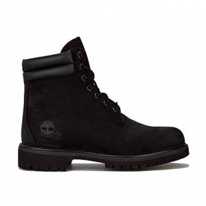 Timberland Men'S 6 Inch Double Collar Ankle Boots, Black Nubuck, 6 Uk