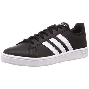 Adidas Men'S Grand Court Base Tennis Shoe, Black White, 5 Uk