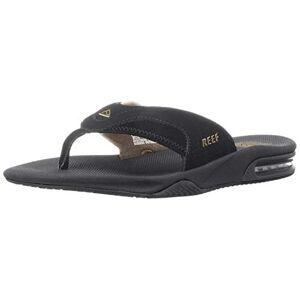 Reef Men'S Fanning Sandals, Black (Black / Brown), 12 Uk