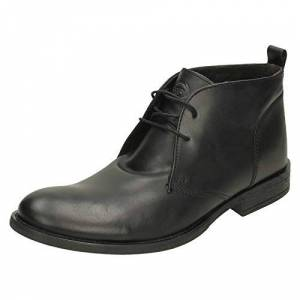 Base London Mens Base London Boots Teak Mto Waxy Black Size Uk8 Eu42