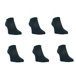 Zone 6 pairs of Mens Trainer Socks/Liners Black 6/11