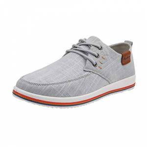 Ulanda-Eu Mens Shoes Men'S Modern Shoes Classic Lace Up Leather Shoes Lined Perforated Oxfords Shoes Fashion Loafers Business Shoes Pointed Toe Office Men Work Shoes Gray